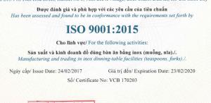 DỊCH VỤ CẤP GIẤY CHỨNG NHẬN ISO 9001: 2015