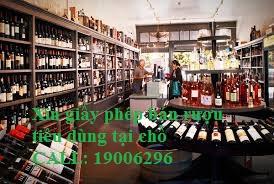 Xin giấy phép kinh doanh rượu tiêu dùng tại chỗ