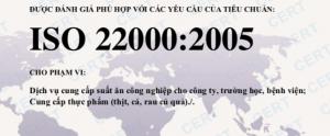 DỊCH VỤ CHUNG NHẠN ISO 22000 - HACCP