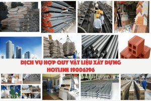 Dịch vụ hợp quy vật liệu xây dựng theo quy chuẩn mới (QCVN-16-2019-BXD)
