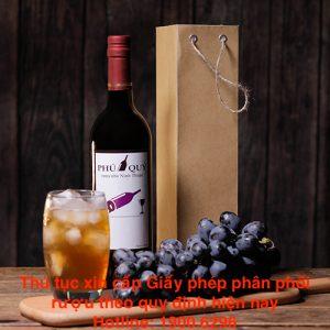 Thủ tục xin cấp Giấy phép phân phối rượu theo quy định hiện nay