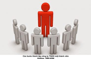 Các bước thành lập công ty TNHH một thành viên