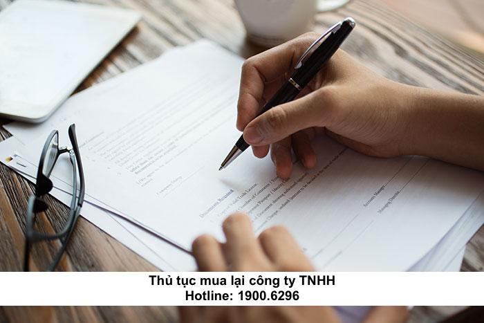 Thủ tục mua lại công ty TNHH