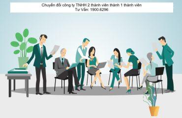 Chuyển đổi công ty TNHH 2 thành viên thành 1 thành viên