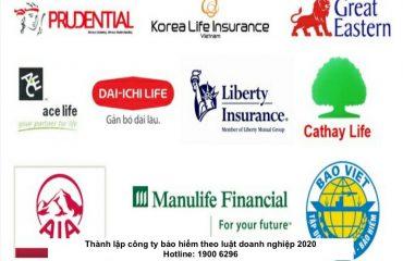 Thành lập công ty bảo hiểm theo luật doanh nghiệp 2020