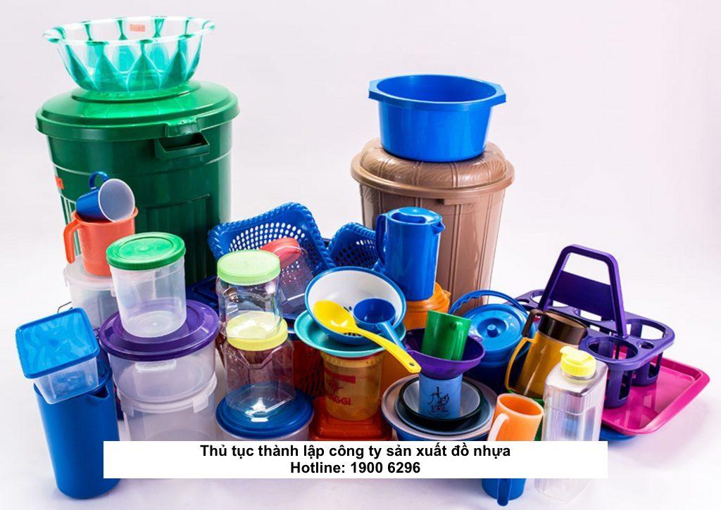 Thủ tục thành lập công ty sản xuất đồ nhựa