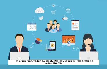 Tìm hiểu ưu và nhược điểm của công ty TNHH MTV và công ty TNHH 2 TV trở lên