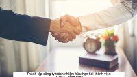 Thành lập công ty trách nhiệm hữu hạn hai thành viên