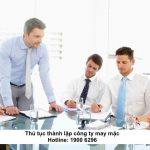 Thủ tục thành lập công ty may mặc