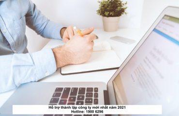 Hỗ trợ thành lập công ty mới nhất năm 2021